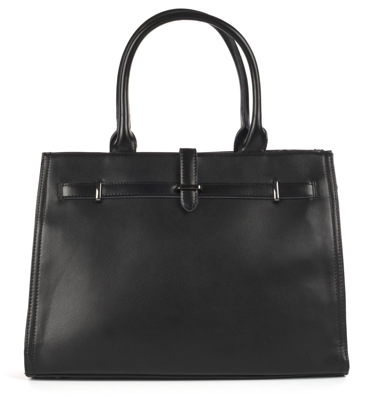 Большая каркасная стильная прочная женская Mariposa сумка  art.6258 черная