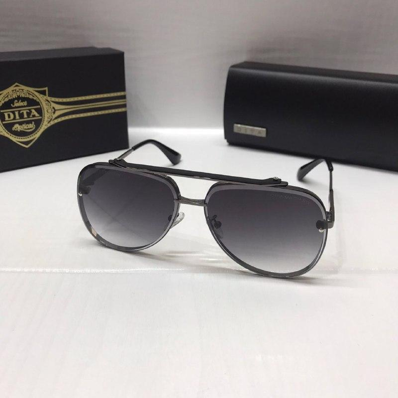 Женские солнцезащитные очки авиаторы Dita реплика серый с градиентом