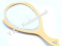 Зеркало заднего вида капля с ручкой бежевое Yre