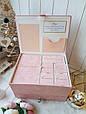 """Шкатулка для новорожденных с альбомом и коробочками для памятных вещей """"Мамины сокровища"""" (С тиснением), фото 5"""