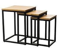 Комплект из 3-х журнальных (кофейных) столов CS-10 орех / nut ТМ VetroMebel