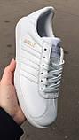 Білі кеди, кріпери чоловічі в стилі Adidas gazelle (адідас газель), фото 2