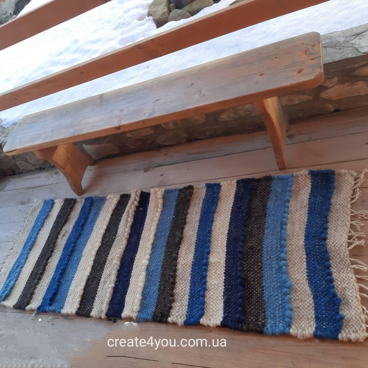 Ліжник-коврик, доріжка з натуральної овечої шерсті 60*220 см