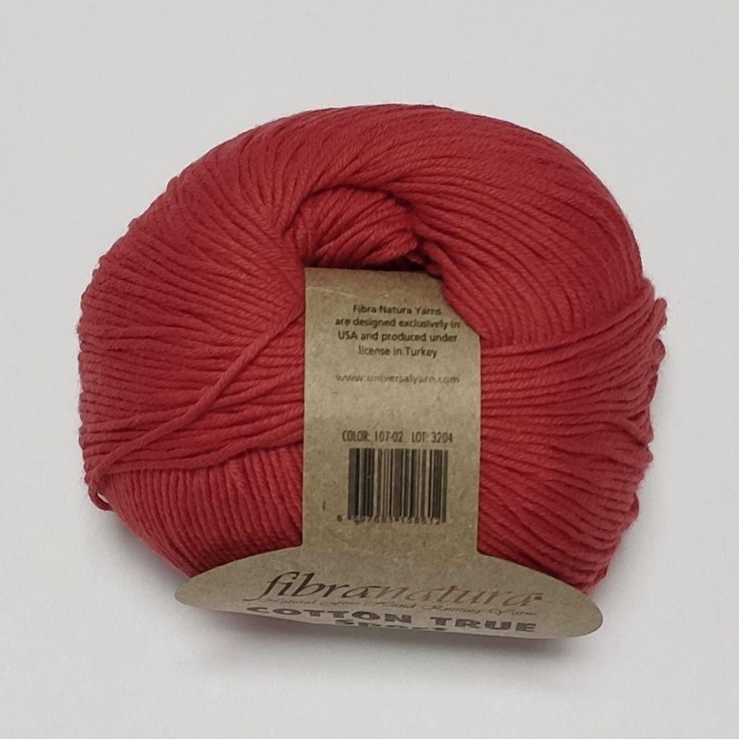 Бавовняна пряжа Cotton True Sport Fibra Natura Котон Тру спорт, різні кольори, червоний