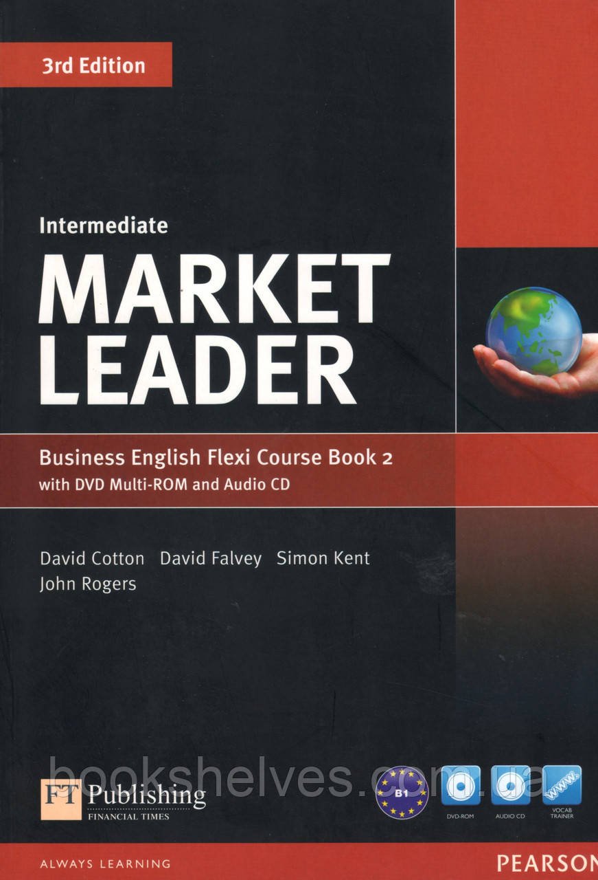 Учебник Market Leader 3rd Intermediate Flexi 2 +DVD+CD Student's book