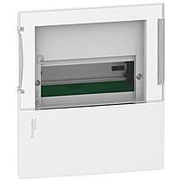 MINI PRAGMA Щит встраиваемый с прозрачной дверкой 1ряд/8мод,IP40,IK07,63А,2 клеммы,Италия (MIP22108S)