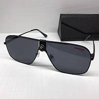 Жіночі сонцезахисні окуляри маска Carrera репліка чорні