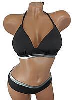 Купальник бикини с уплотненной чашкой Push Up Kesell 945 черный на 42 44 46 48 50 размер