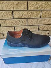 Туфли мужские спортивного стиля из экокожи( нубук), подошва прошита UF0QQ, фото 2