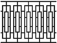 Забор из металла, 2510-1, 2000мм*1500мм
