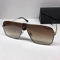 Жіночі сонцезахисні окуляри маска Carrera репліка з коричневим градієнтом