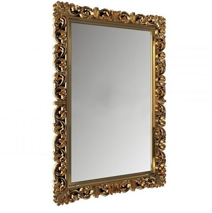 Дзеркало навісне Гретта в декоративній золотій рамі Elite Decor ТМ Миро-марк