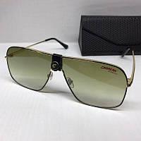 Жіночі сонцезахисні окуляри маска Carrera репліка з зеленим градієнтом