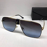 Жіночі сонцезахисні окуляри маска Carrera репліка з синім градієнтом