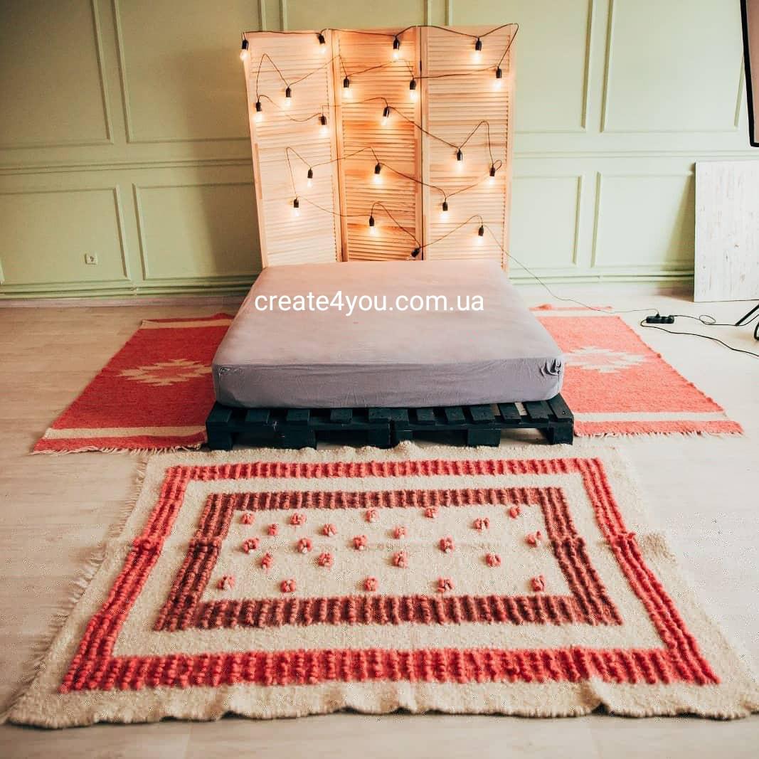 Ліжник-килим, доріжка з натуральної овечої шерсті 150*220