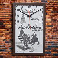 """Дизайнерские настенные часы """"APOLLO"""", индивидуальная работа."""