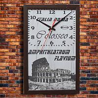 """Дизайнерские настенные часы """"COLOSSEO"""", индивидуальная работа."""