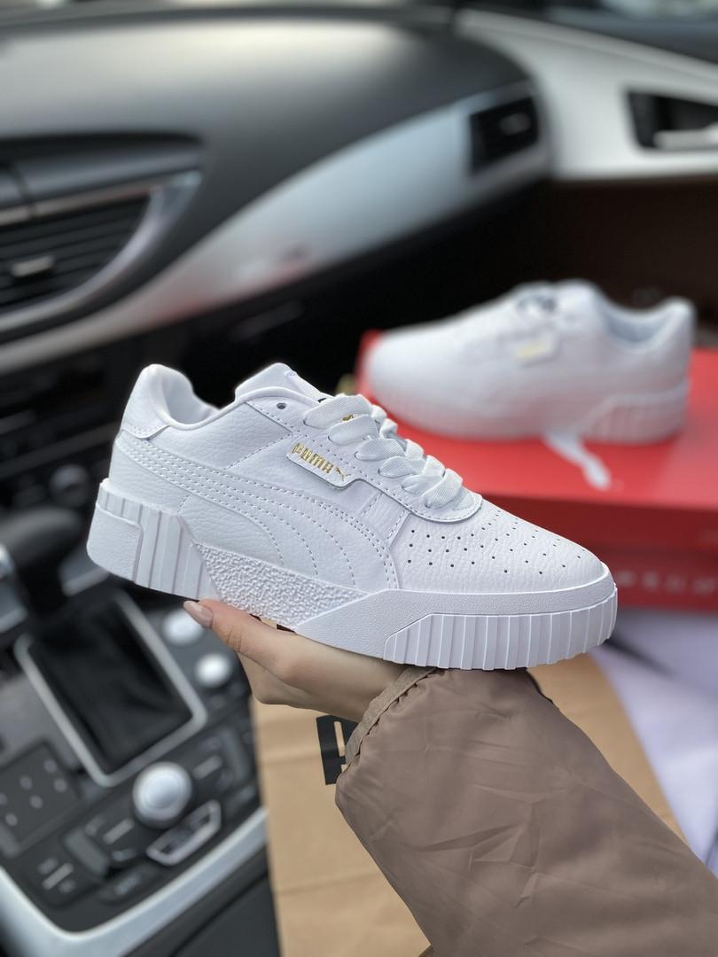 Кроссовки женские Puma Cali.Стильные кроссовки белого цвета.