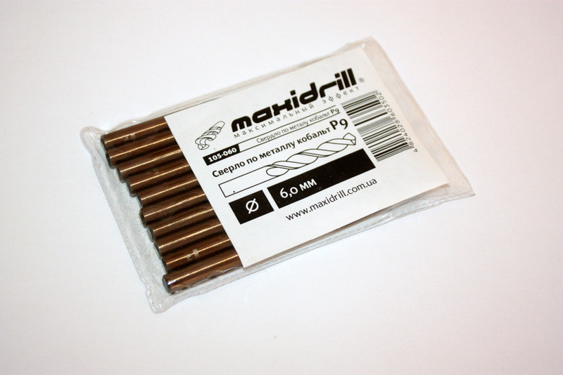 "Свердло по металу Р9 (кобальт) 6,1 ""MAXIDRILL"" (уп 10шт)"