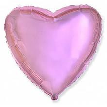 """Фольгована кулька серце рожевий гляцевий 18"""" Flexmetal"""