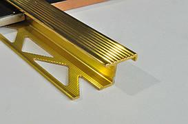 Z образный лестничный латунный профиль Pawotex 11 мм 2.5 м MOP11/T
