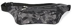 Удобная прочная тонкая мужская сумка на пояс art. БАНАНКА 66 Украина