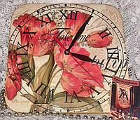 Часы настенные, часы на кухню,часы в детскую, ручная работа,цветы, шеби шик, Прованс