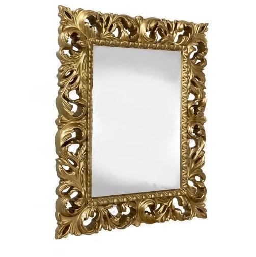 Дзеркало навісне Піонія в декоративній золотистої рамі 1000х800 Elite Decor ТМ Миро-Марк