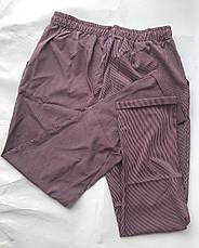 БАТАЛЬНЫЕ летние штаны N°17 Пл. (бордовая), фото 3