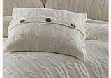 Комплект постельного белья  first choice евро размер c покрывалом Nirvana Excellent krem, фото 2