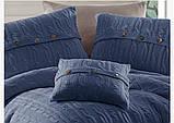 Комплект постельного белья  first choice евро размер c покрывалом Nirvana Excellent indigo, фото 2