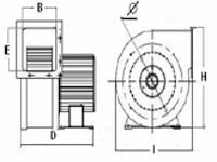 Вентилятор центробежный (радиальный) малый ВРМ 80/1 П, фото 3