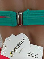Неоновый купальник с высокой талией Push Up Kesell 2225 малиновый на 44 46 48 50 52 размер, фото 3