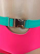 Неоновый купальник с высокой талией Push Up Kesell 2225 малиновый на 44 46 48 50 52 размер, фото 2