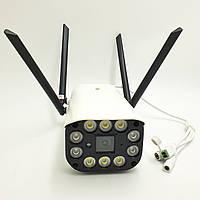 IP Камера відеоспостереження вулична 3G\4G sim Wi Fi HD 1080p 2 Mp 4 антени UKC CAMERA CAD 3120 біла