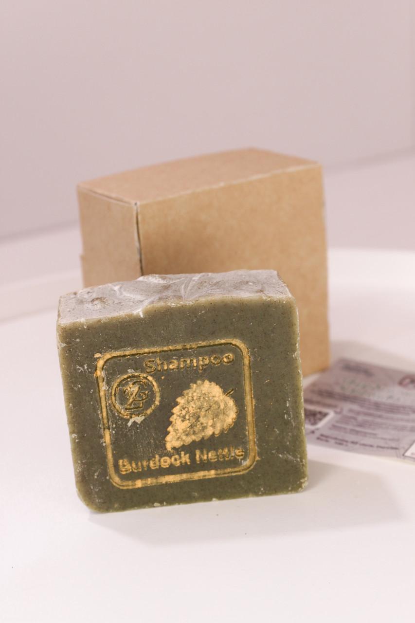 Шампунь Крапива–Лопух брусочек 100 г - для укрепления и восстановления всех типов волос
