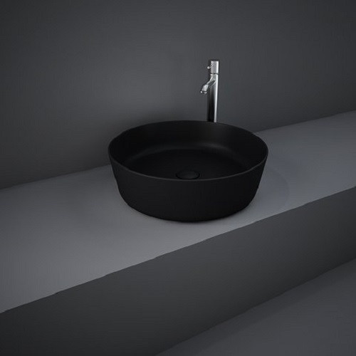 Раковина на столешницу FEECT4200504A FEELING круглая, черная матовая, 42см