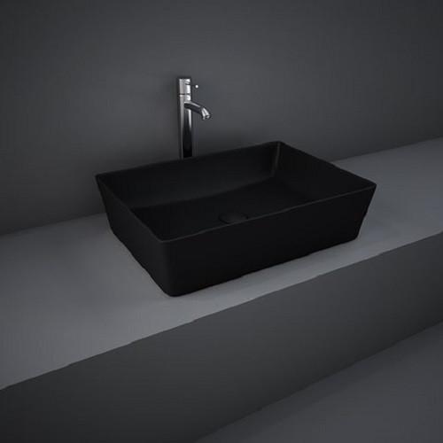 Раковина на столешницу FEECT5000504A FEELING прямоугольная, черная матовая, 50см