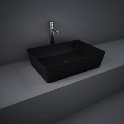 Раковина на столешницу FEECT5000504A FEELING прямоугольная, черная матовая, 50см, фото 2