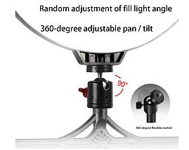 Кільцева лампа для блогерів (12 см. діаметр кільця)+ подвійне кріплення для телефонів, фото 2