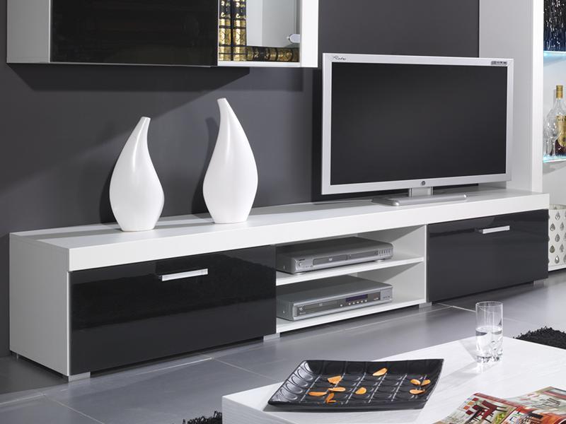 ТВ тумба SAMBA 200 (белый черный) (CAMA)