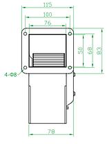 Вентилятор центробежный (радиальный) малый ВРМ 108, фото 3