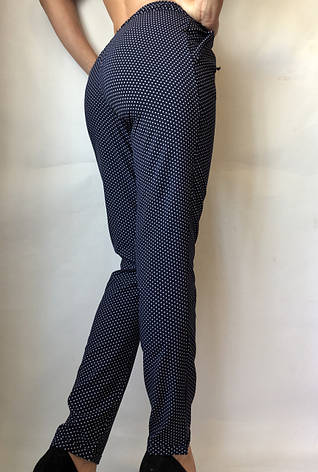 Женские летние штаны N°17/2 горох БАТАЛ, фото 2