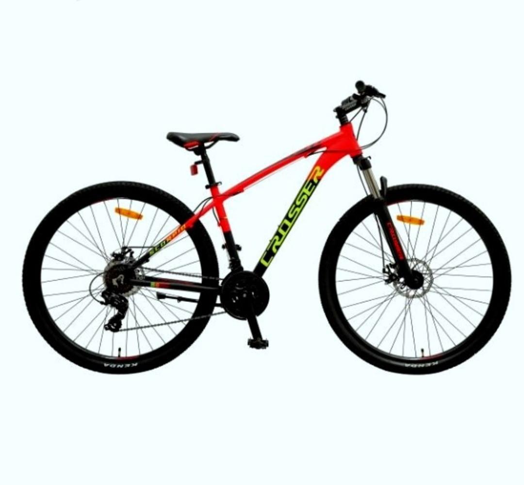 """Гірський велосипед 26 дюймів Crosser Scorpio рама 17"""" Алюміній BLACK-RED"""