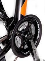 """Гірський велосипед 26 дюймів Crosser Scorpio рама 17"""" Алюміній BLACK-RED, фото 2"""
