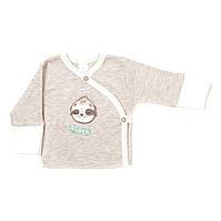 Распашонка Baby Veres Sloth yoga молочный рибана