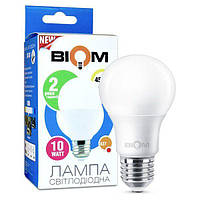 Светодиодная лампа Biom BT-509 A60 10W E27 3000К матовая, фото 1