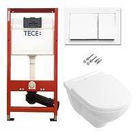 Инсталляция TECE с подвесным унитазом O.NOVO  DirectFlush + крышка Softclose, фото 1