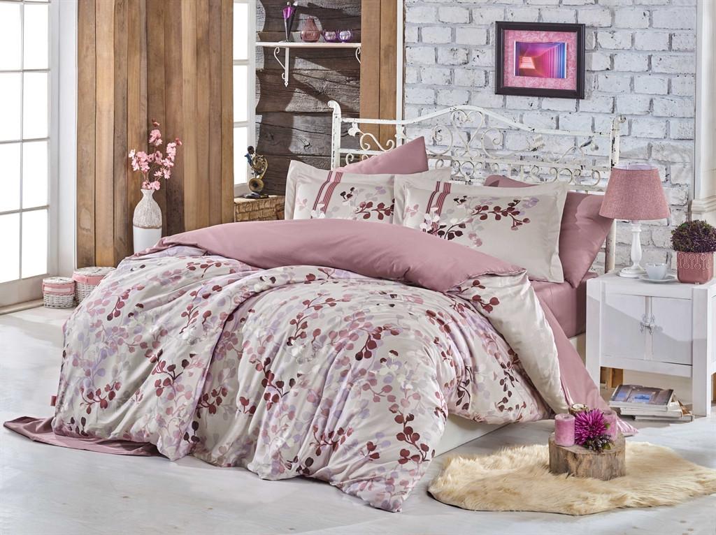 Двуспальный комплект постельного белья Exclusive Sateen Irma 200*220/4*50*70 см (8698499132153)