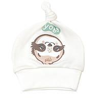 Шапочка-узелок Baby Veres Sloth yoga молочный рибана